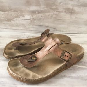 Mossimo Supply Co. Shoes - MOSSIMO IDA Rose Gold Footbed Sandals